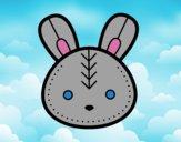 Dibujo Cara de conejito de Pascua pintado por Joer