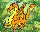 Dibujo Dragón elegante pintado por MARIELYSSS