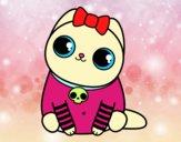 Dibujo Gatito emo pintado por Glorimar