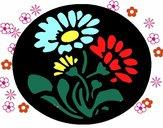Dibujo Grabado con flores pintado por Zurami