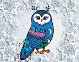 Dibujo Lechuza de invierno pintado por LauraMC