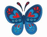 Dibujo Mandala mariposa pintado por marita18