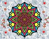 Mandala simetría sencilla
