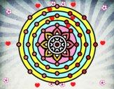 Dibujo Mandala sistema solar pintado por sophiairr