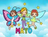 Dibujo Mayo pintado por angieyujan