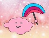 Dibujo Nube con arcoiris pintado por Karol12345