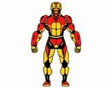 Robot luchador de espaldas