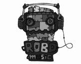 Dibujo Robot music pintado por AlexGoCam