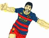 Suárez celebrando un gol