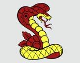 Dibujo Tatuaje de cobra pintado por MARIELYSSS