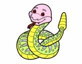 Dibujo Una serpiente de cascabel pintado por MARIELYSSS