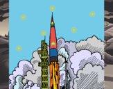 Dibujo Lanzamiento cohete pintado por Ramon45