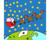 Papa Noel repartiendo regalos 3