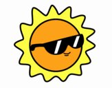 Sol con gafas