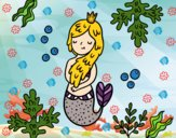 Dibujo Una reina sirena pintado por mariac127