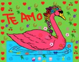 Dibujo Cisne con flores pintado por MARIELYSSS