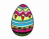 Dibujo Huevo de Pascua para decorar pintado por NIKCY