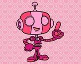 Dibujo Robot simpático pintado por nicolesalo