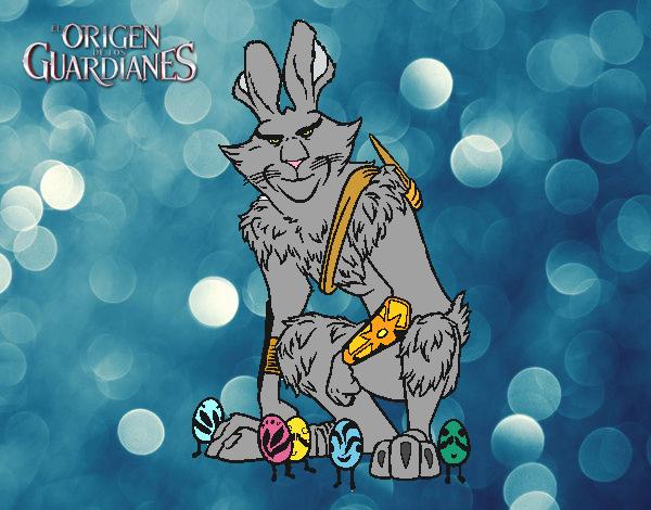 Dibujo Bunny, el conejo de Pascua pintado por PimPolloAr