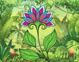 Dibujo Flor decorativa pintado por beto1emily