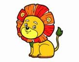Dibujo León joven pintado por LauraArti