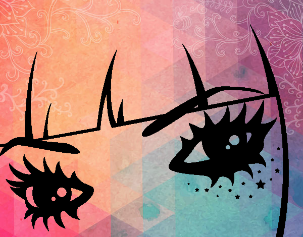 Dibujo Ojos Emo pintado por PimPolloAr