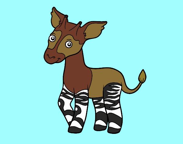 Dibujo Okapi pintado por gav007a