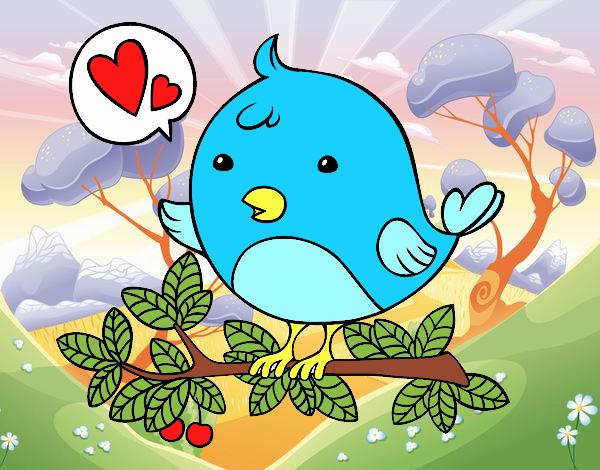 Dibujo Pájaro de Twitter pintado por valeriand