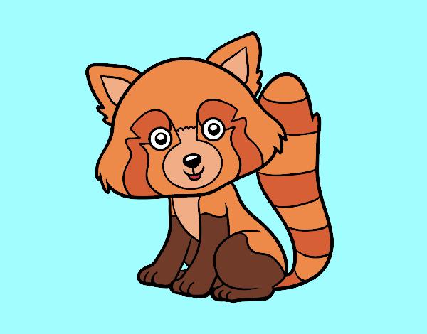 Dibujo Panda rojo pintado por gav007a