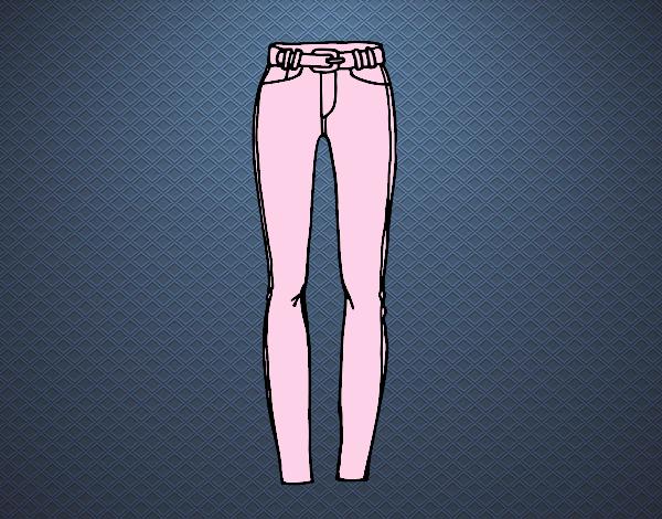 Dibujo Pantalones de pitillo pintado por Juice