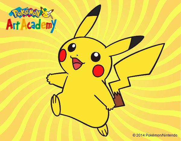 Dibujo Pikachu en Pokémon Art Academy pintado por PimPolloAr