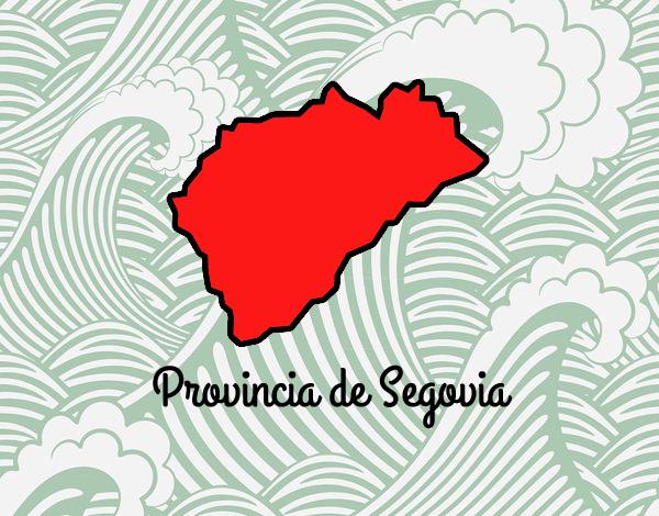 Dibujo Provincia de Segovia pintado por valeriand