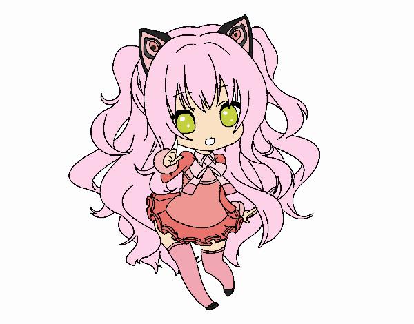 Dibujo SeeU Chibi Vocaloid pintado por PimPolloAr