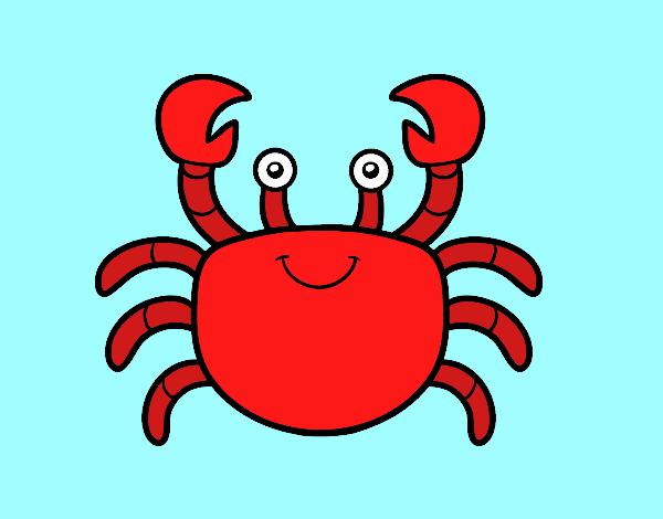 Dibujo Un cangrejo de mar pintado por gav007a