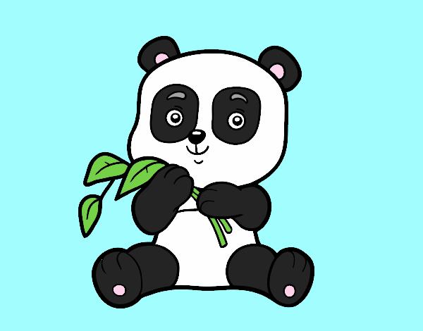 Dibujo Un oso panda pintado por gav007a
