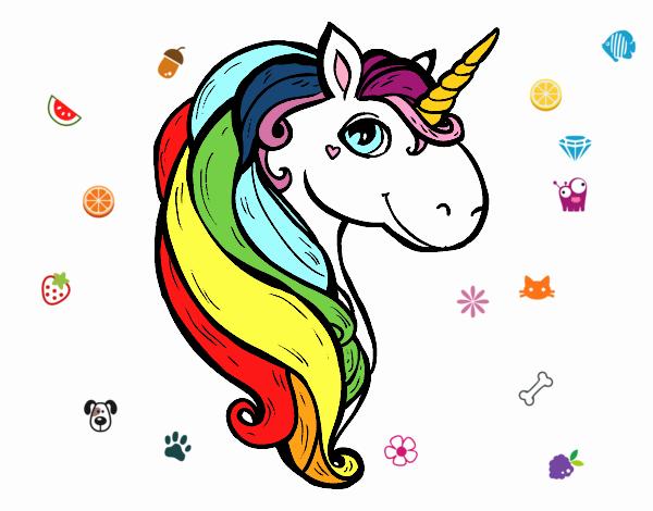 Dibujo Un unicornio pintado por PimPolloAr