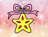 Una estrella navideña