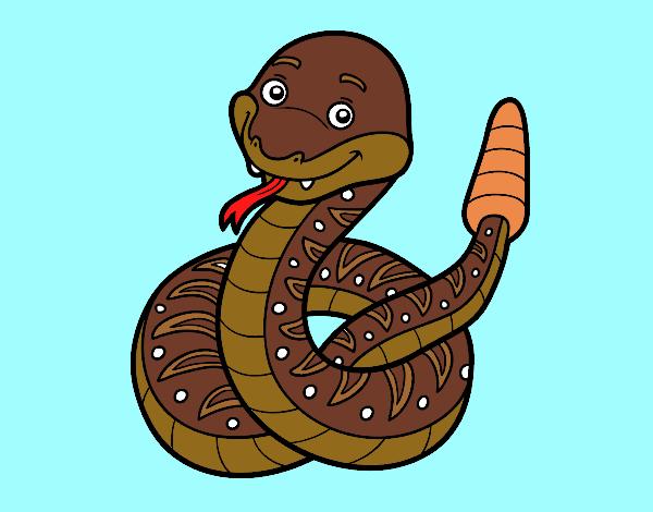 Dibujo Una serpiente de cascabel pintado por gav007a