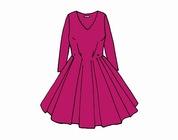 Dibujo Vestido con falda de vuelo pintado por Juice