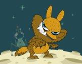 Dibujo El lobo feroz pintado por lina200714
