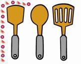 Dibujo Espátulas de cocina pintado por hern