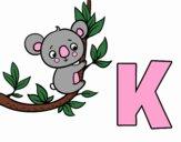 Dibujo K de Koala pintado por brichuli