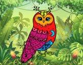 Dibujo Lechuza de invierno pintado por dani2