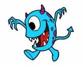 Dibujo Monstruo con un ojo pintado por kika2005