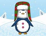 Pingüino con gorro