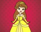 Dibujo Princesa bella pintado por Marlina