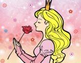 Dibujo Princesa y rosa pintado por dani1406