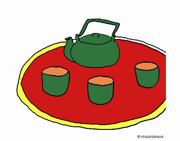 Dibujo Té chino pintado por Juice