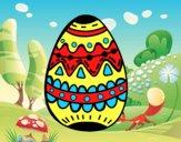 Un huevo de pascua decorado