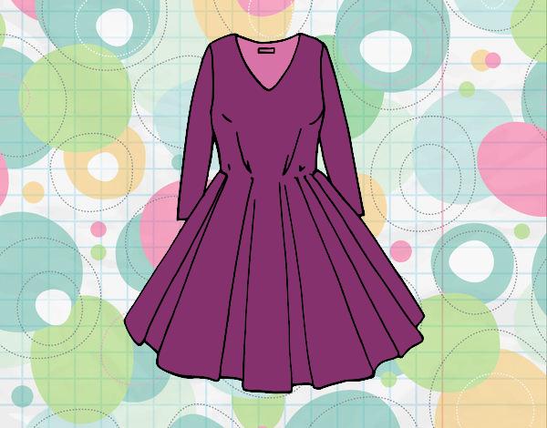 Dibujo Vestido con falda de vuelo pintado por Osiita